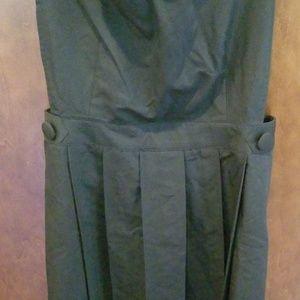 Modcloth Dresses - Jumper Right In Black Pleated Dress Jumper XL